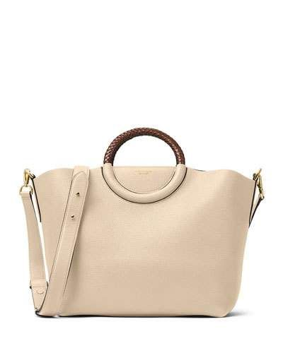 b6db12336ff4 MICHAEL KORS Skorpios Leather Market Bag, Dune. #michaelkors #bags #shoulder  bags