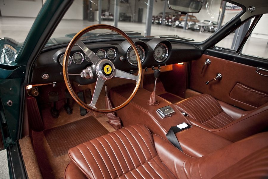FERRARI 250 GT LUSSO 1964 interior is brown and black | Auto ...