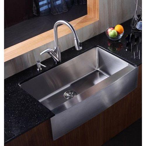 Ariel 36 L X 21 W Stainless Steel Single Bowl Farmhouse Kitchen