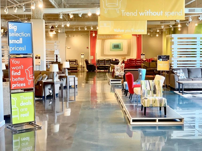 Lombard Ill Based The Roomplace Recently Opened Its Third Rp Outlet One Floor Below The Mall Based The Roomplace In Affordable Design Design Solutions Outlet