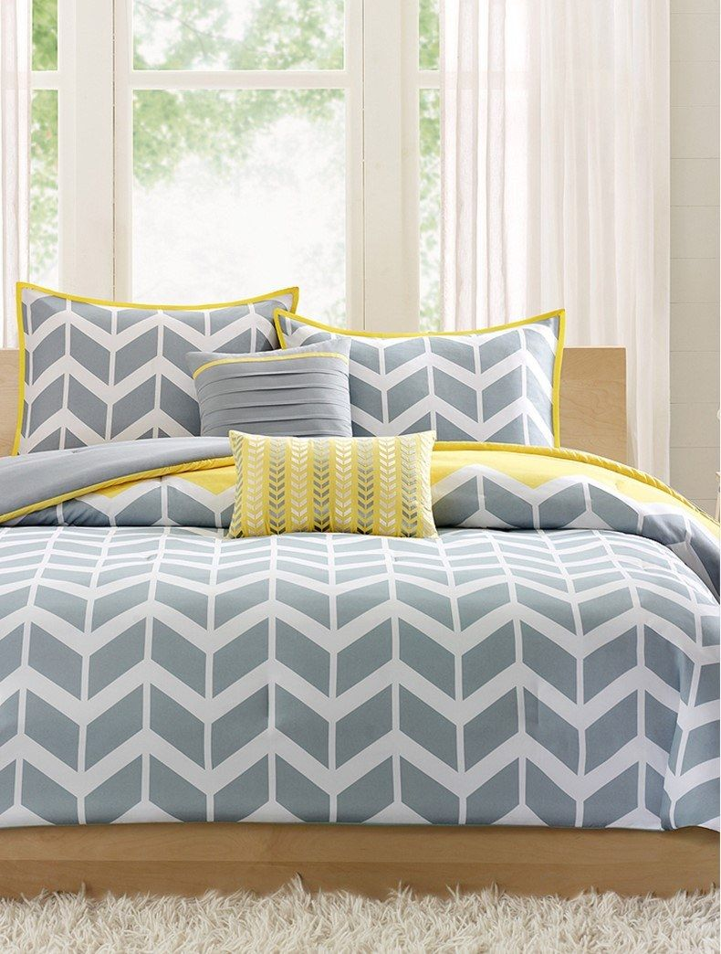 Young chevron grey and yellow bedroom thebestwoodfurniture also gemeinsam wohnen pinterest rh