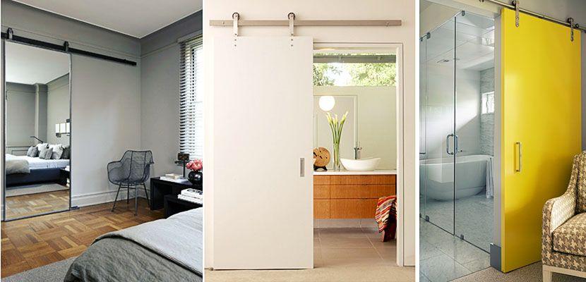 Puertas correderas entre el dormitorio y el ba o incorporado puerta vestidor puertas - Puerta corredera bano ...