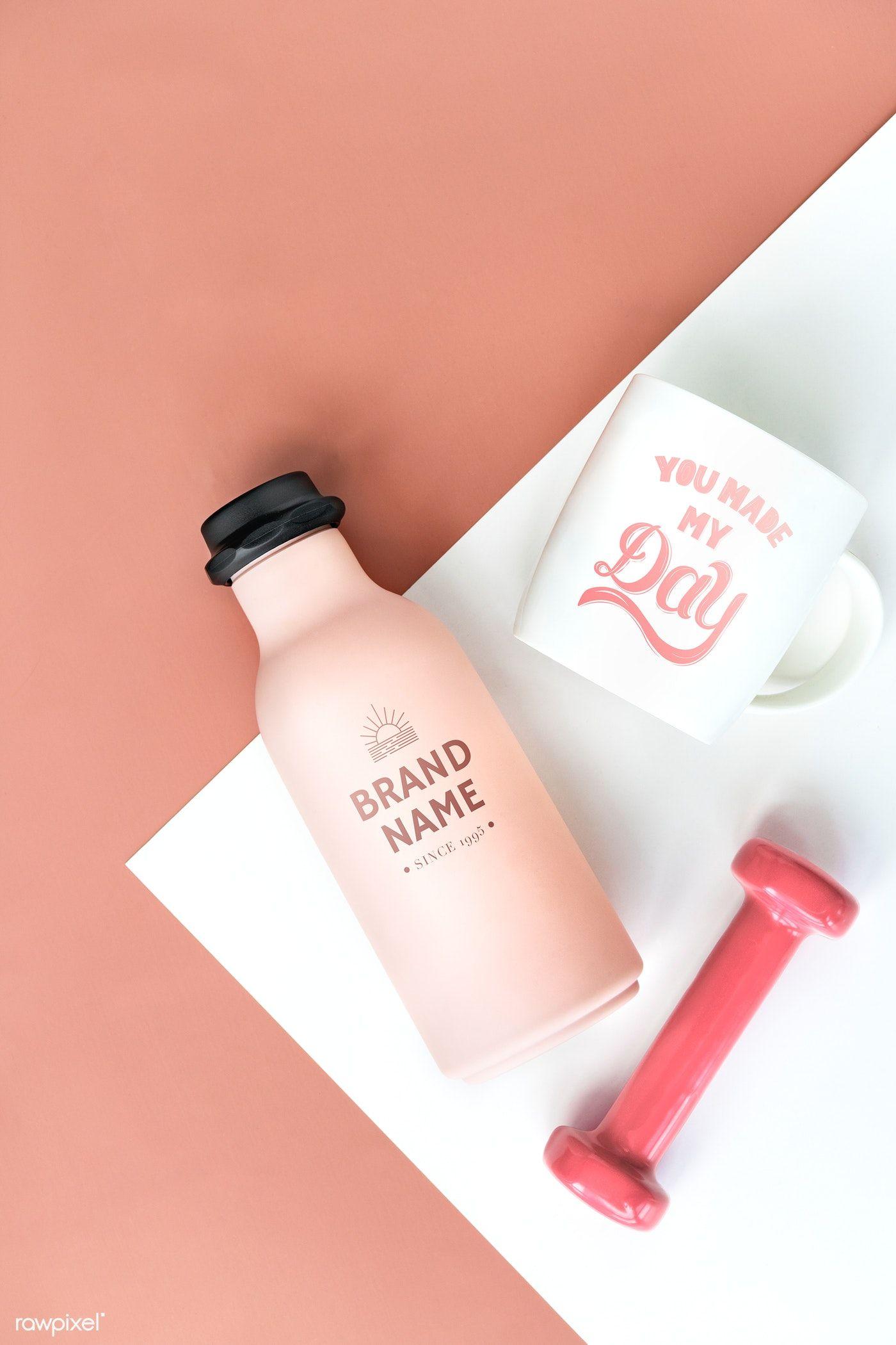 Download Premium Psd Of Pastel Pink Sports Bottle Mockup Design 1209819 Bottle Mockup Reusable Water Bottle Design Mockup Design