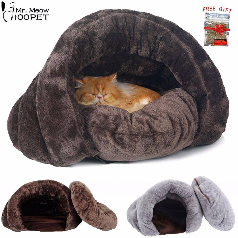 개 고양이 자기 온난화 부드러운 침낭 고양이 안아 자루 침대 귀여운데 동굴 애완 동물 집 담요 매트 쿠션