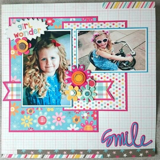 Papercrafting Scrapbook Layout Idea Girl Wonder Layout By Beth