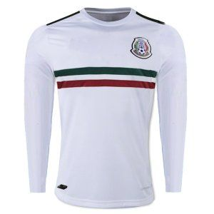 Mexico National Team 2017-18 Away LS White Jersey Shirt  K325 ... cef19e324