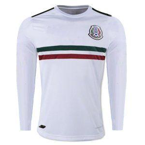 f316cadd1 ... Mexico National Team 2017-18 Away LS White Jersey Shirt K325 Brazil Jersey  2016 ...