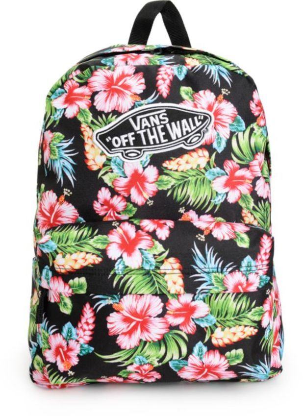 7402528d3f Vans Realm Hawaiian Black Backpack