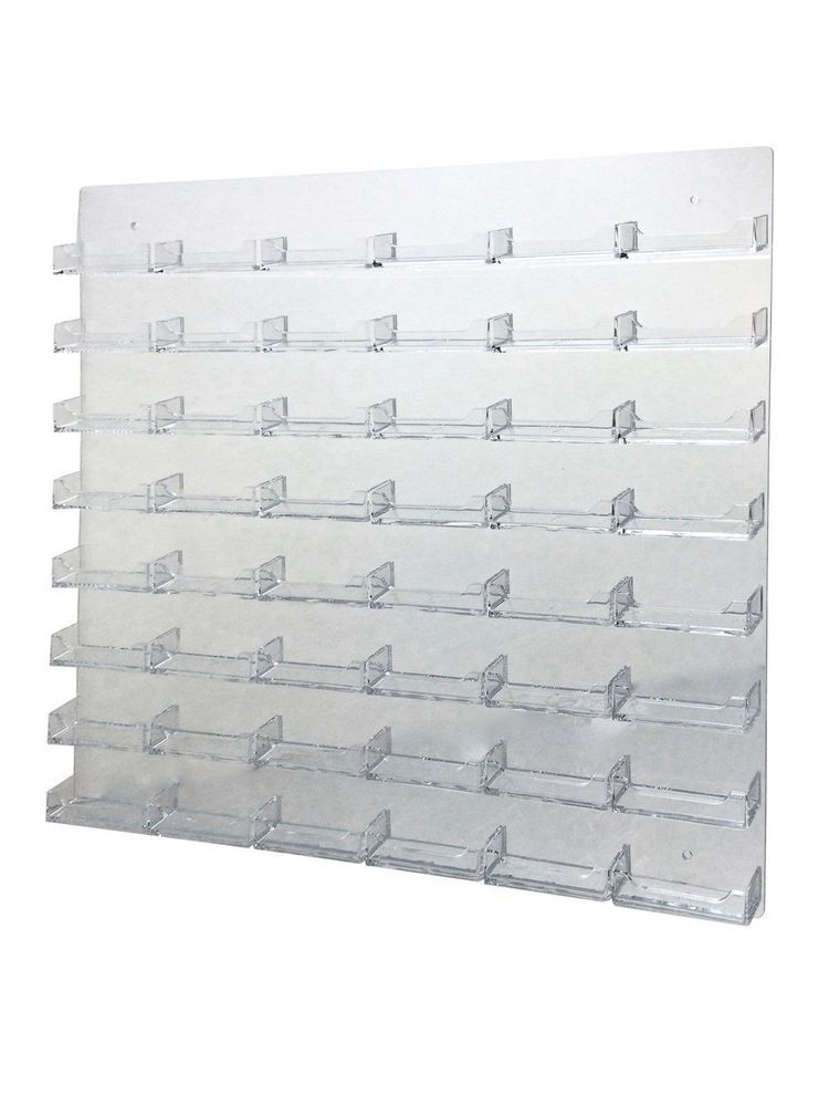 48 Pocket Business Card Holder Clear Acrylic Wall Mount Multi Pocket ...