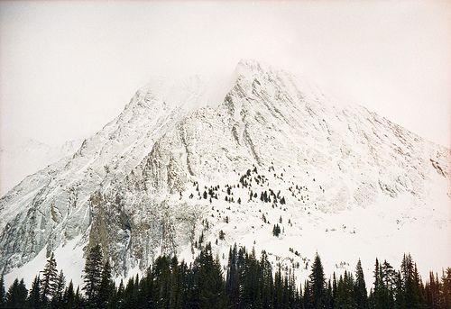 snowy mountain top....