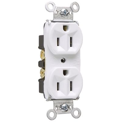 legrand 15 amp 125 volt white indoor duplex wall outlet on wall outlet id=45068