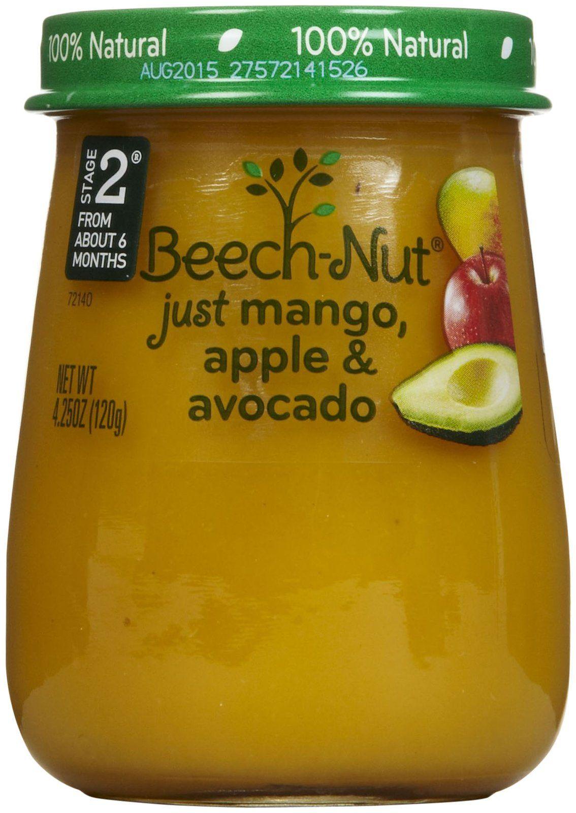Beechnut stage 2 just purees mango apple avocado