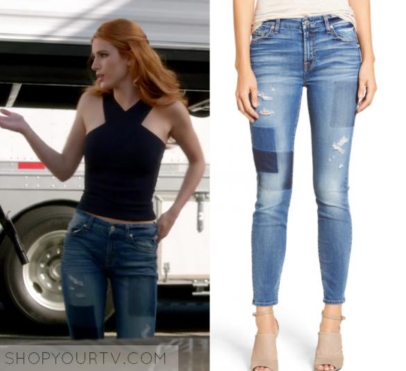 Famous in Love: Season 1 Episode 4 Paige's Patch Denim Jeans | Shop Your TV