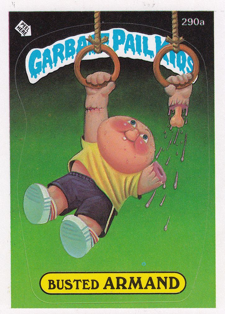 Garbage Pail Kids Series 7 290a Busted Armand Garbage Pail Kids Garbage Pail Kids Cards Pail