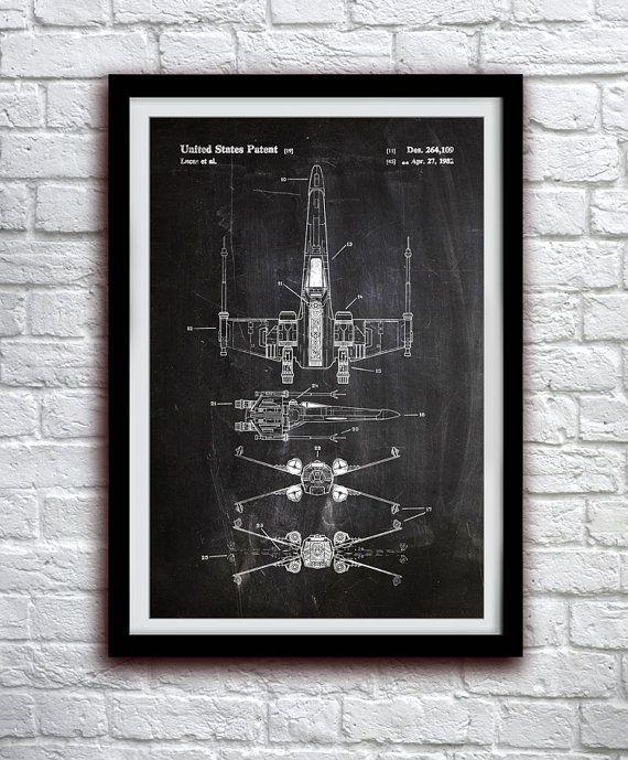 Star Wars X-wing - acción figura juguete Decor - Decoración de la pared de…