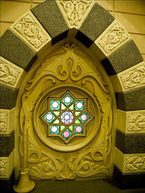 window at Mosque of the Prophet (Masjid-e-Nabvi) Madina) by ShaukatNiazi, via Flickr