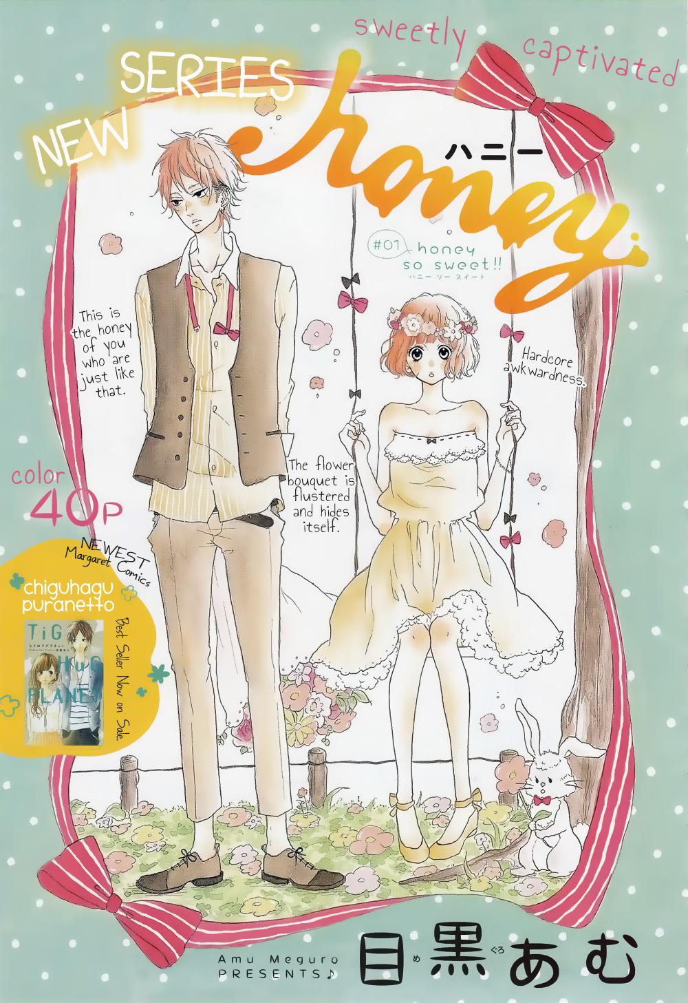 Read manga Honey (MEGURO Amu) Vol.001 Ch.001: Honey so sweet!! online in high quality