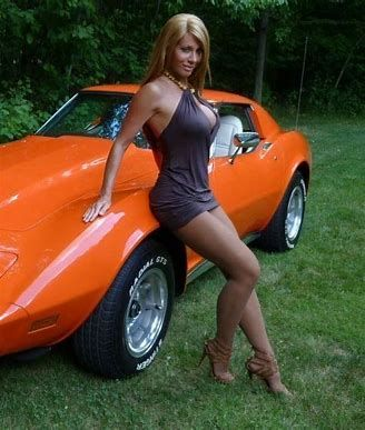 Naked girl and a corvette, russisn girl boobs