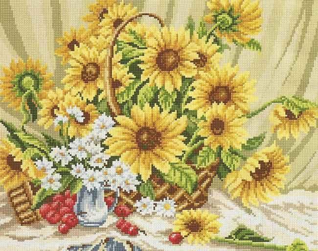 Схемы вышивки крестиком цветов бесплатно