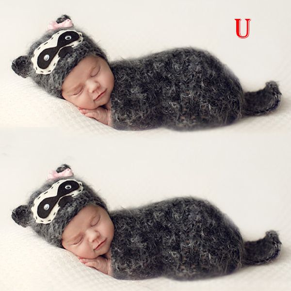 Niño del bebé Animal sombrero apoyo de la foto Beanie flores gorra ...