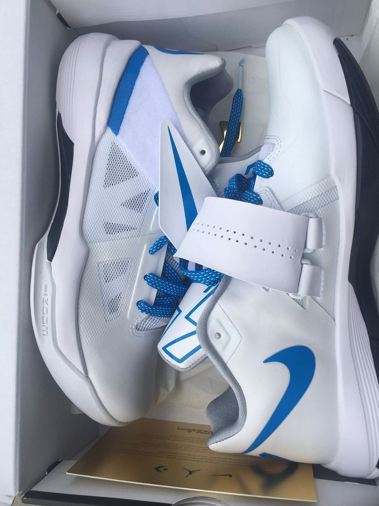 77661f97ba7d Nike KD IV 4 Thunderstruck Battle Tested White Blue Size 9.5 Kevin Durant   fashion  clothing  shoes  accessories  mensshoes  athleticshoes (ebay link)