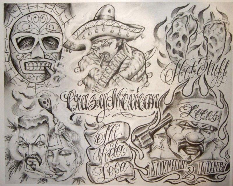 Id e dessin de tatouage chicanos tw13 pinterest chicano for Aztec mural tattoos