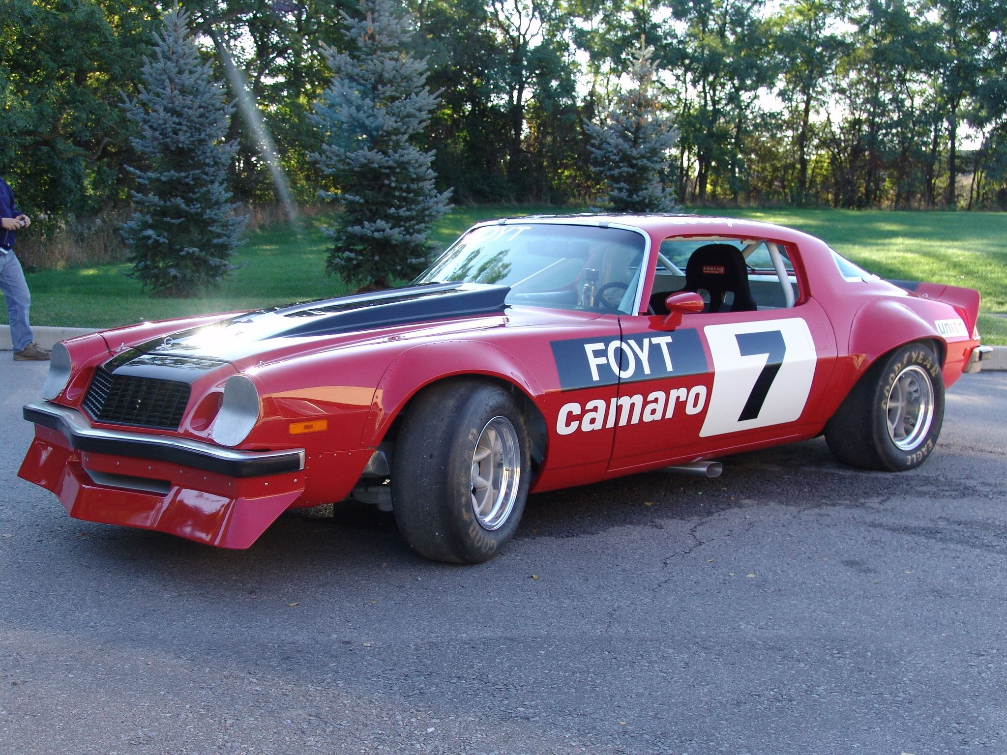 Legendary motorcar presents this restored 1975 chevrolet camaro iroc race car available for purchase