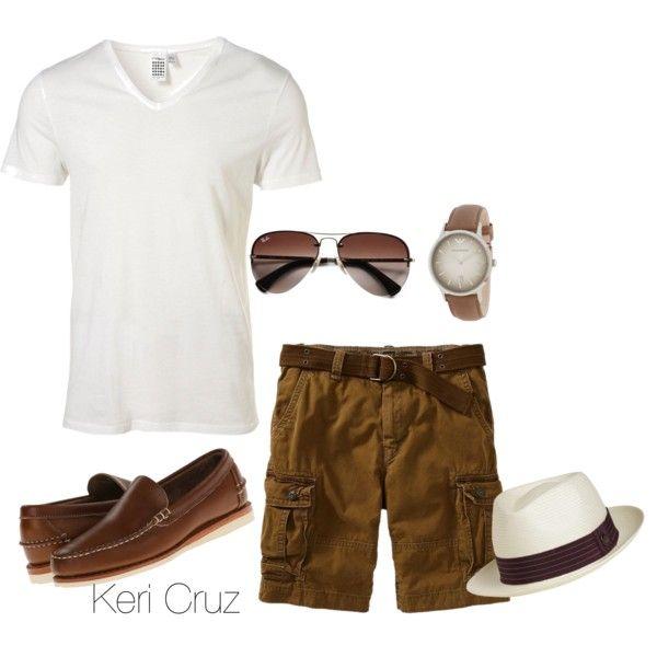 men 39 s summer fashion created by keri cruz on polyvore. Black Bedroom Furniture Sets. Home Design Ideas