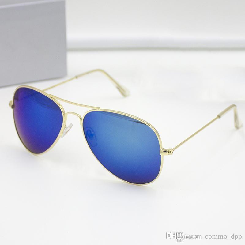 De haute qualité Marque designer pilote Mens lunettes de soleil de luxe en métal cadre Lunettes de soleil lunettes de sport rétro Pour femmes Mode classique lunettes