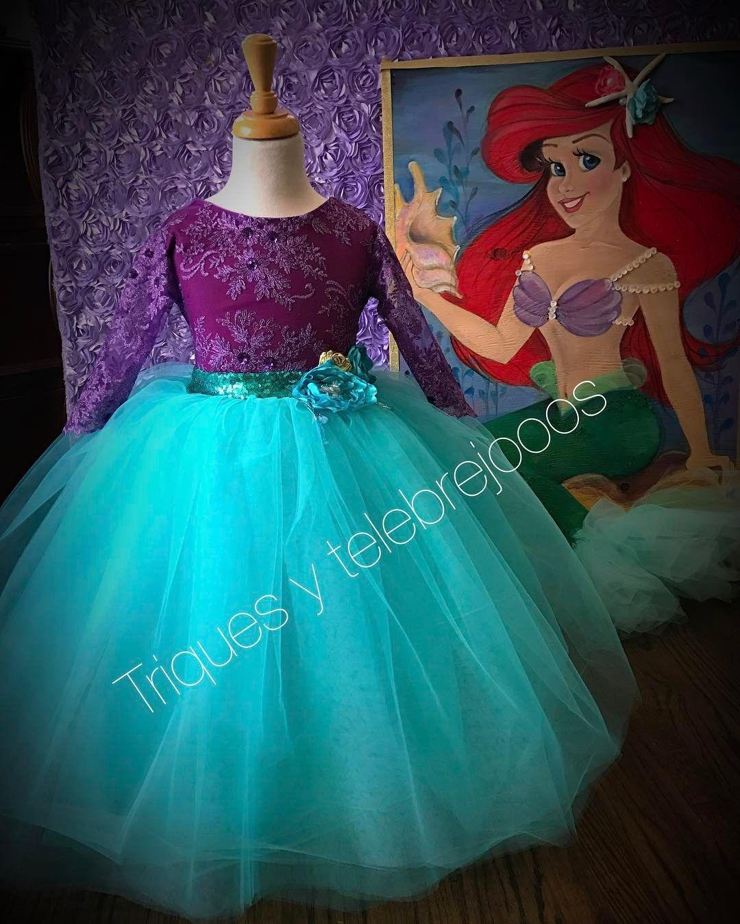 Vestido Diseño Lizzet Inspirado En Princesa Ariel