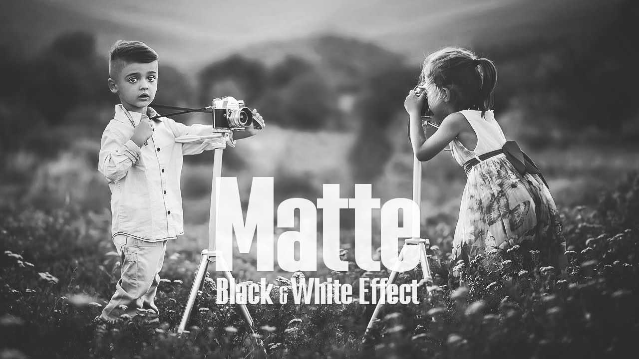 Matte black white effect photoshop tutorial av tutorials in this quick tutorial well see how to easily create an awesome black white matte photo effect in adobe photoshop baditri Gallery