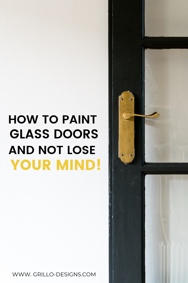 How to Paint Glass Panel Doors (like a pro is part of Glass panel door, Panel doors, Glass painting, Glass panels, Painted interior doors, Diy furniture projects - If you're looking to paint glass panel doors  this tutorial will talk you through how to do that, including the types of paint to use and popular tips on how to paint around the glass for a professional looking finish