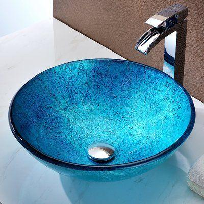 Gl Circular Vessel Bathroom Sink