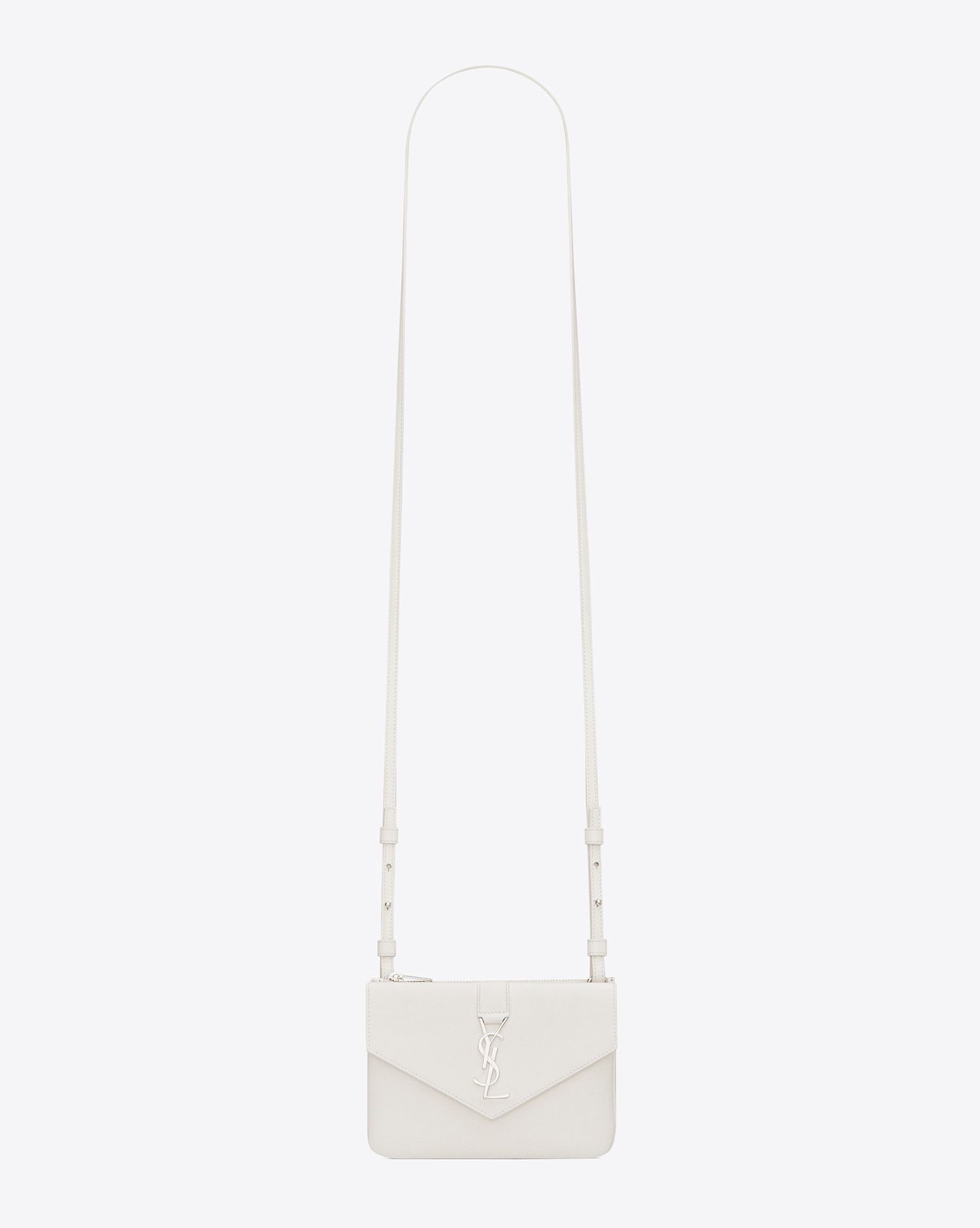 Saint Laurent YSL Tri Sac Pocket Dans White Dove cuir   YSL.com  745 ... a7fcec3954e