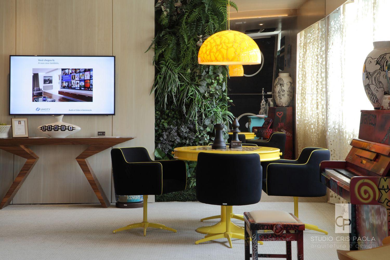 Studio Cris Paola Sala De M Sica E Jogos Na Mostra Viver S O Paulo  -> Sala De Tv E Jogos