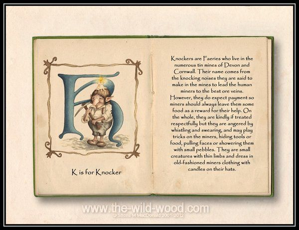 K is for Knocker by *pebblepixie on deviantART ~has one for every letter