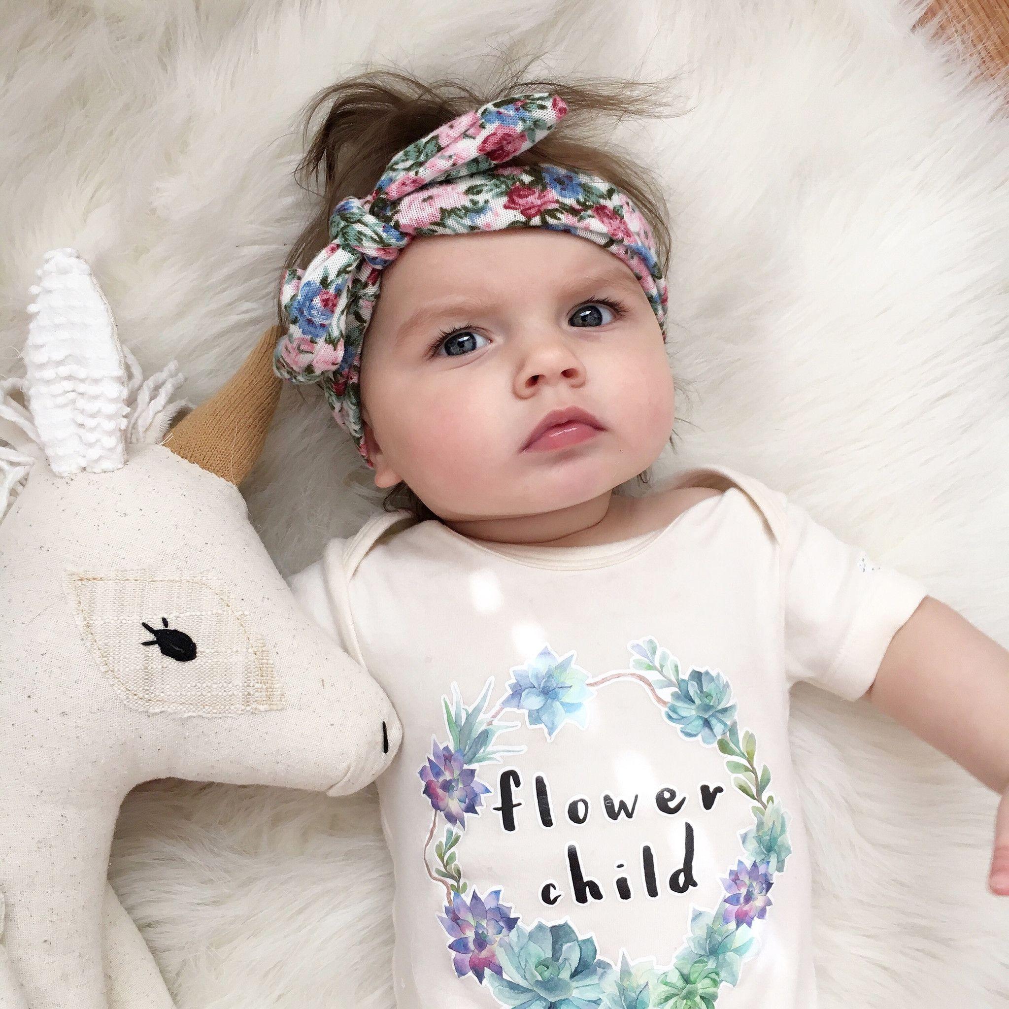 Flower Child, Boho, Hippie, Floral, Baby, Girl, Infant ...