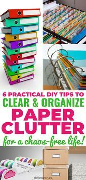 56 Super ideas office organization files paper clutter tips