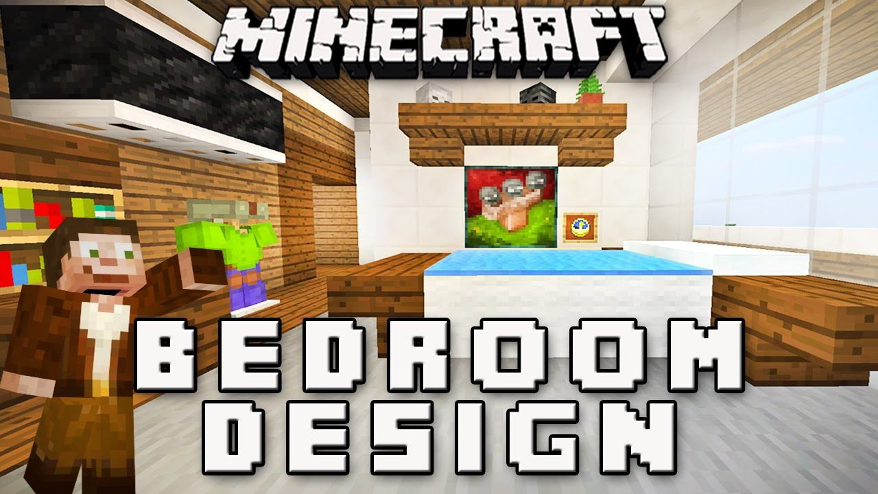 minecraft tutorial how to make a bedroom design modern house build