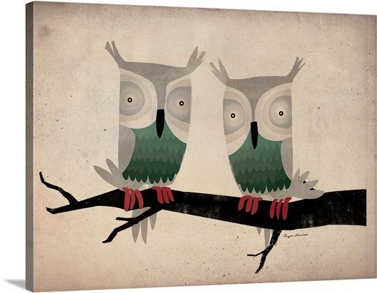 Tan Owls In 2020 Owl Illustration Graphic Illustration Owl Wall Art