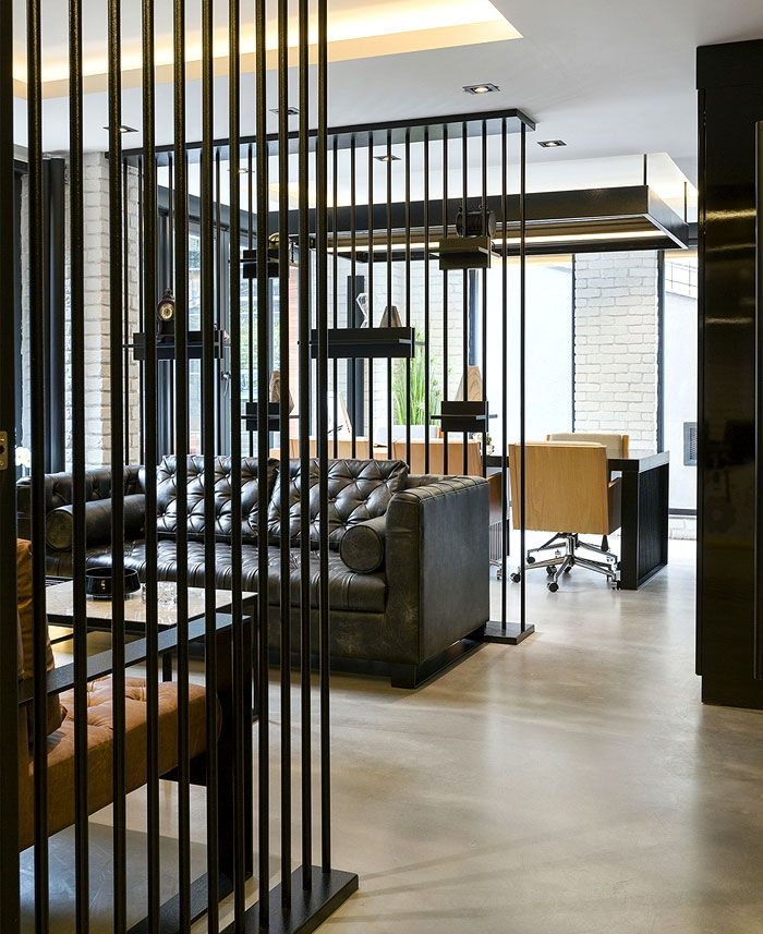 Black and yellow emre group office interior office interiors group and interiors