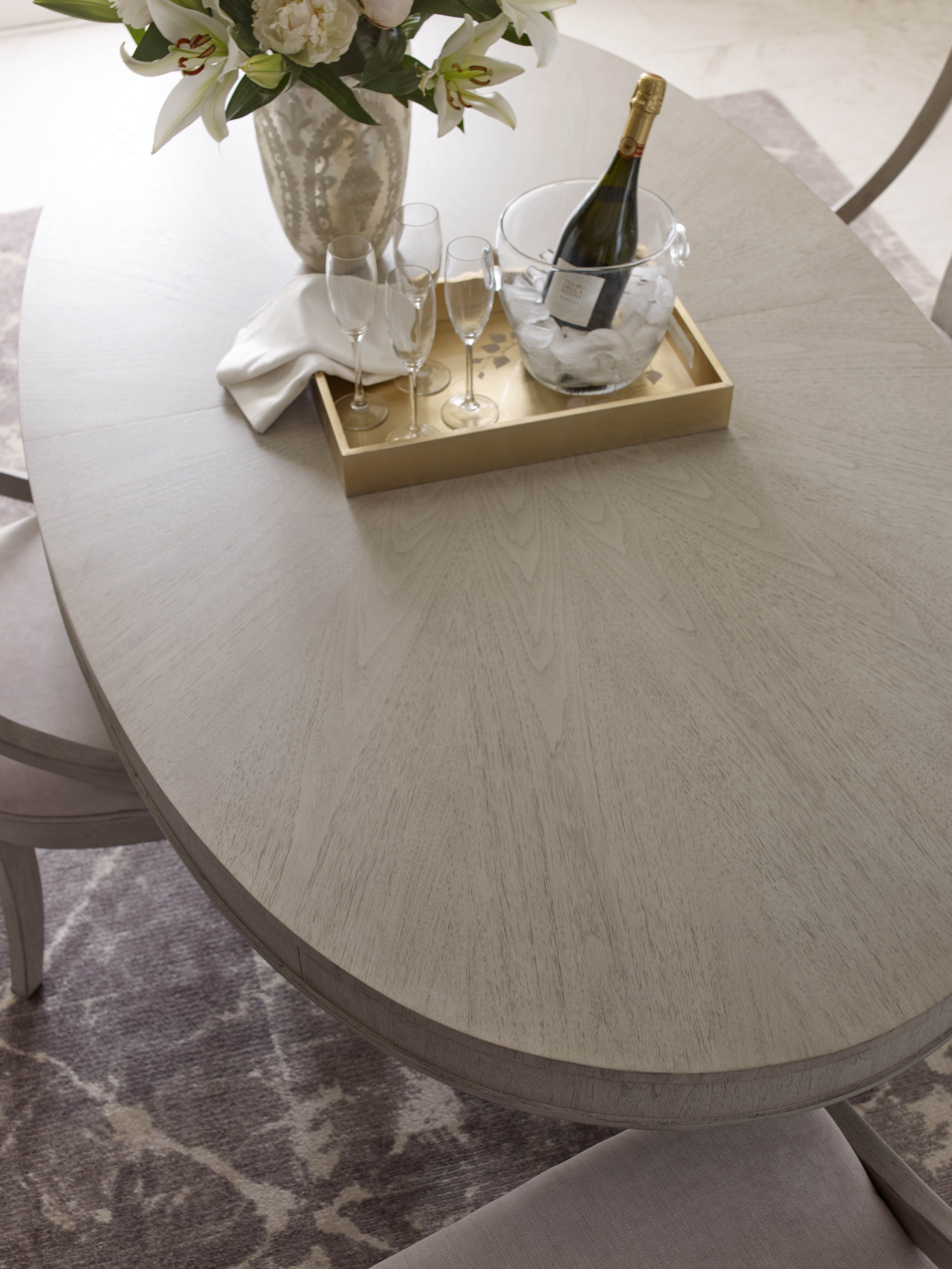 The Rachael Ray Home Cinema Collection Oval Pedestal Table Top