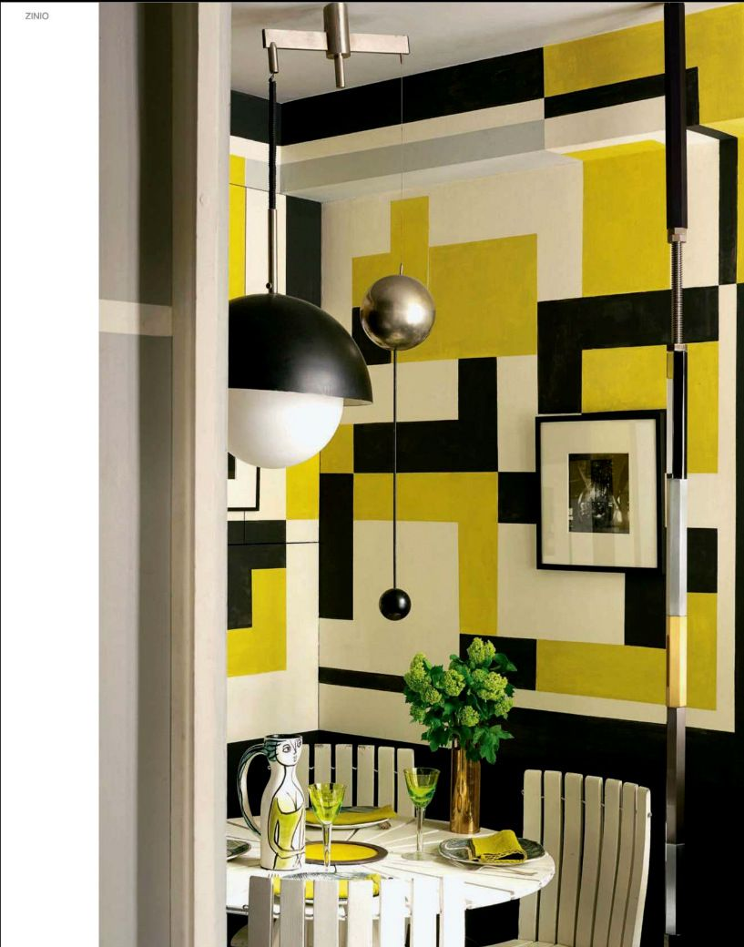 This eclectic style Paris residence is decorated in a dramatic ...