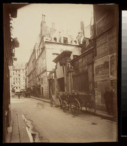Hotel des Abbes de Royaumont 4 Rue du Jour (1e)  photo by  Eugène Atget (French, 1857-1927)  .Hotel des Abbes de Royaumont 4 Rue du Jour (1e)  Date: 1907 (note posters on right wall)