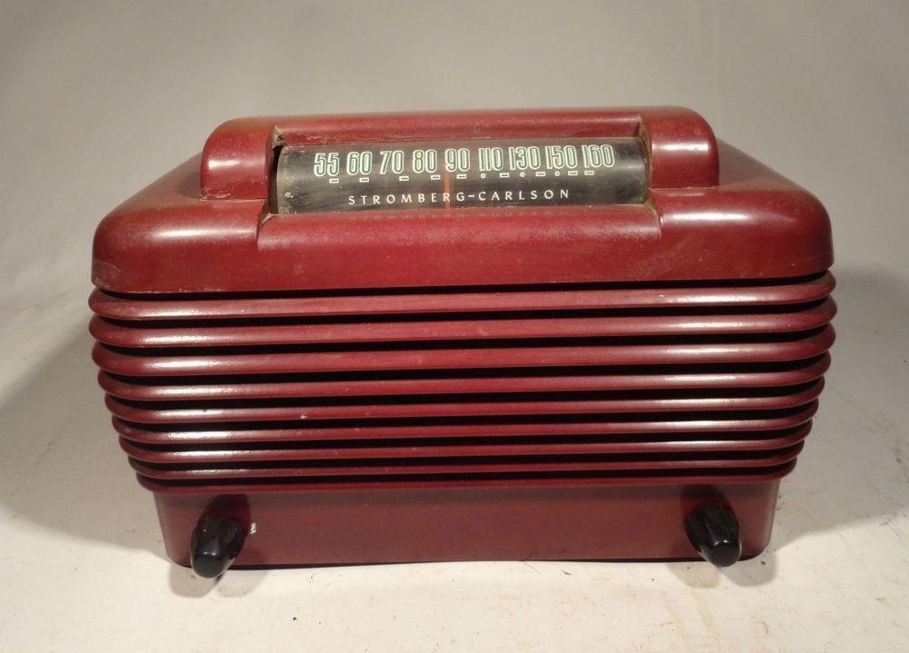 Vintage Crosley Bakelite Tube Radio Model 58tk Parts Or Repair Ebay Vintage Art Deco Antiques Vintage