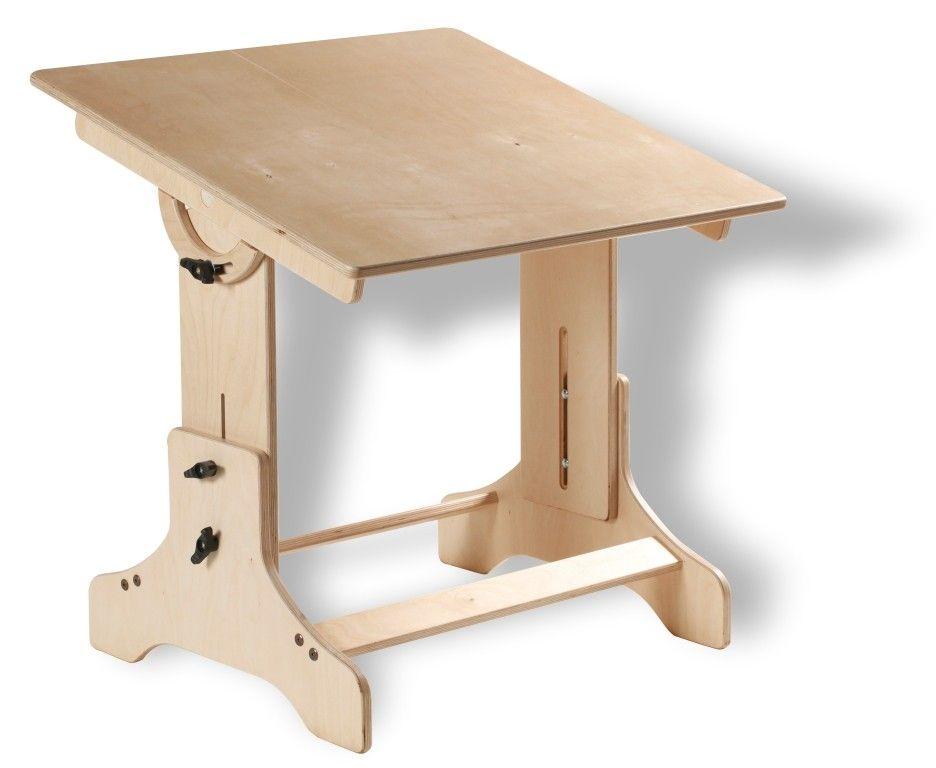 Kids Eco Art Drafting Style Table Natural 249 00 Via Etsy