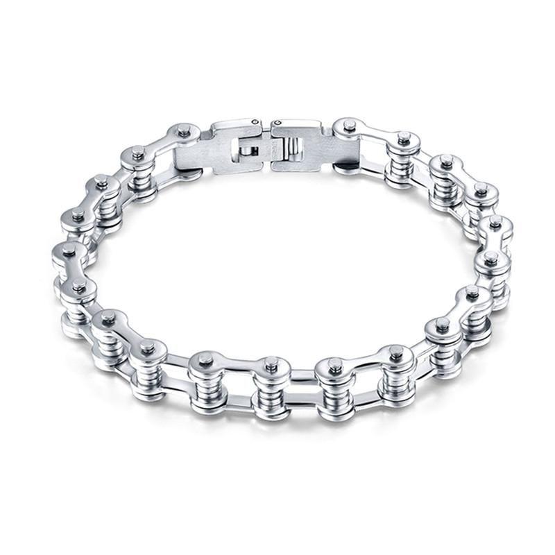 Modern Refined Stainless Steel Bracelet Bike Chain Design For Men And Women Link Chain All Match Wristband Bracelet Link For Unisex Jewelry Making Bracelets For Men Bike Chain Bracelet Motorcycle Chain Bracelet