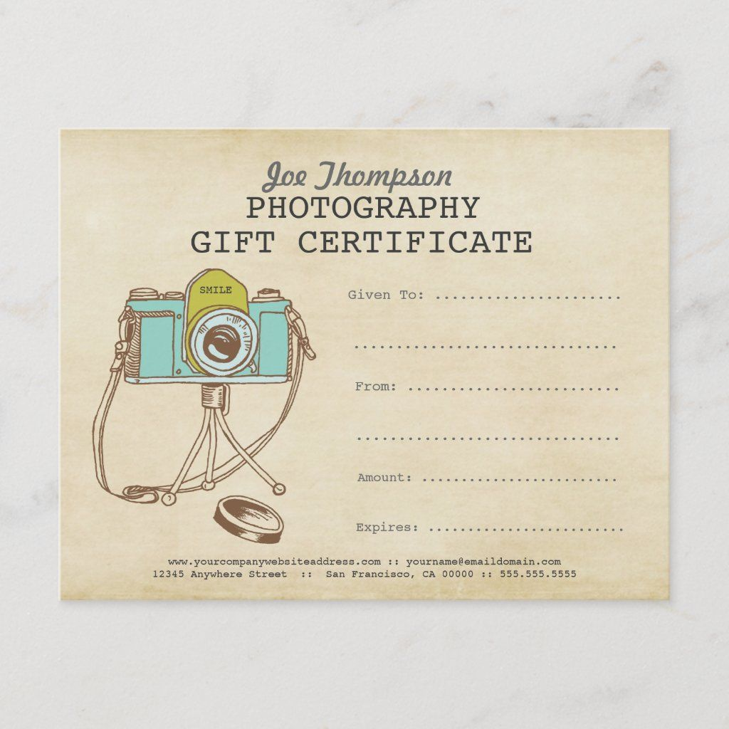 Photographer Photography Gift Certificate Template Zazzle Com Photography Gift Certificate Template Photography Gift Certificate Gift Certificate Template Free photography gift certificate template