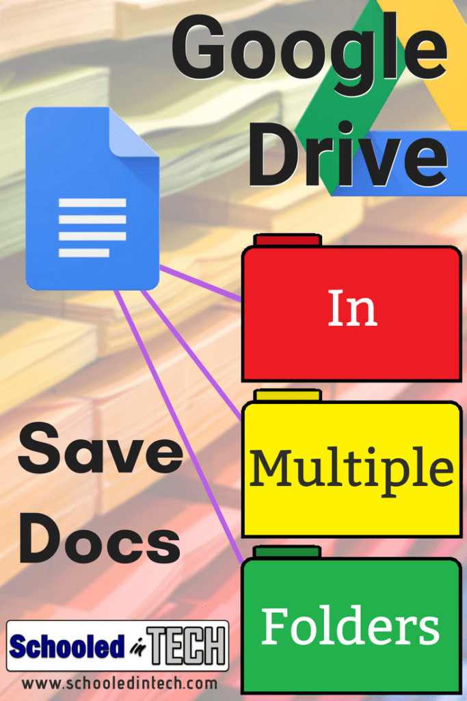 Save A Google Doc To Multiple Folder Locations Within Google Drive Schooled In Tech Google Education Google Drive Tech School