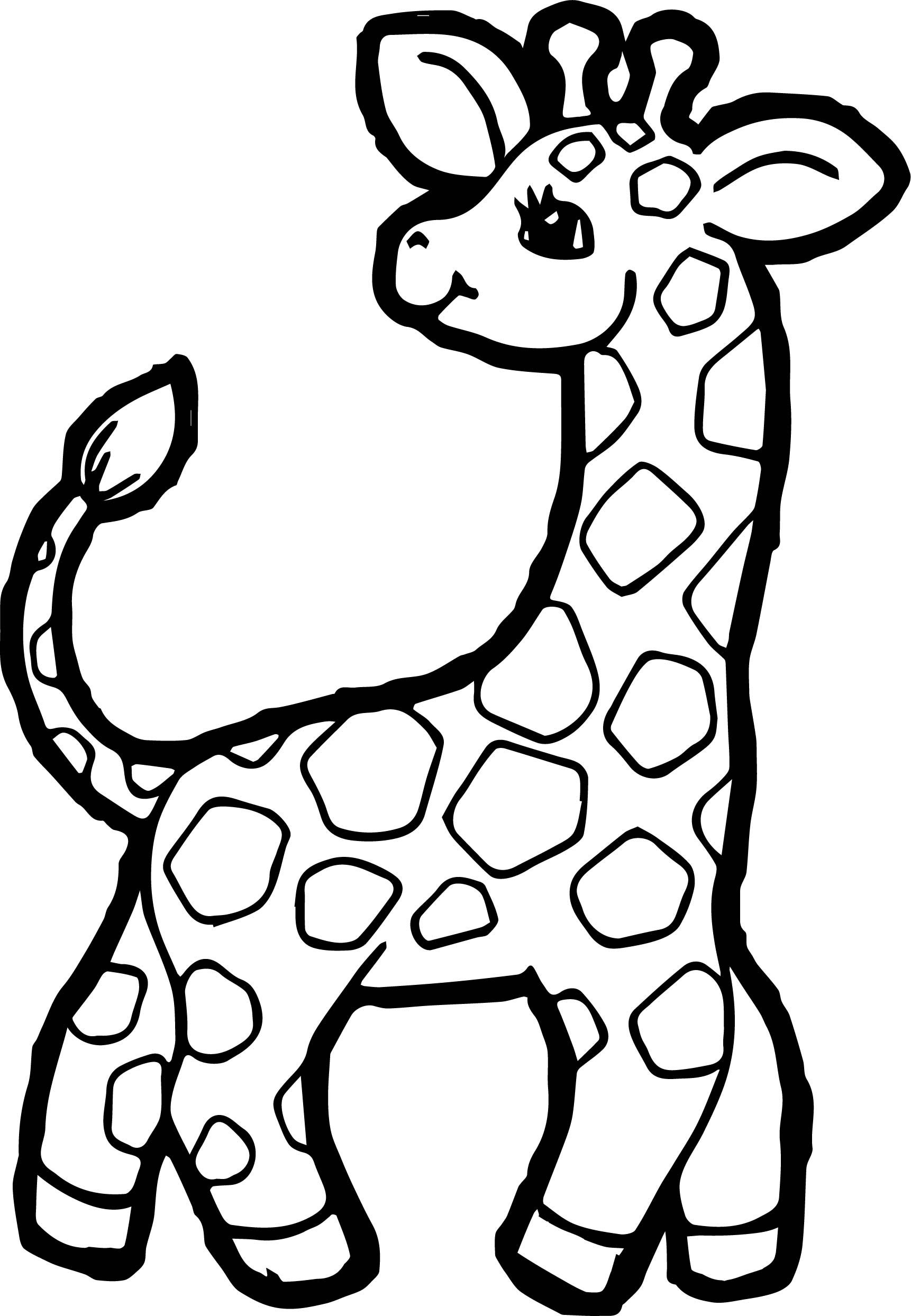 Preschool Giraffe Coloring Page